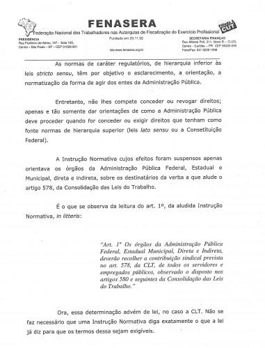 FENASERA imposto sindical portaria 421.20170002