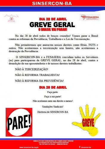 Panfleto greve geral 28.04
