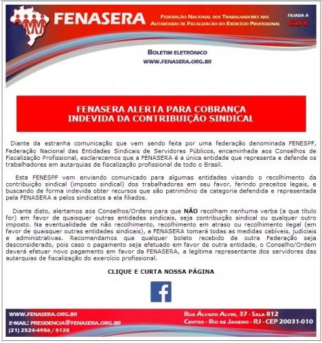 alerta de fraude na contribuição sindical