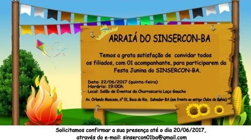 convite festa junina site