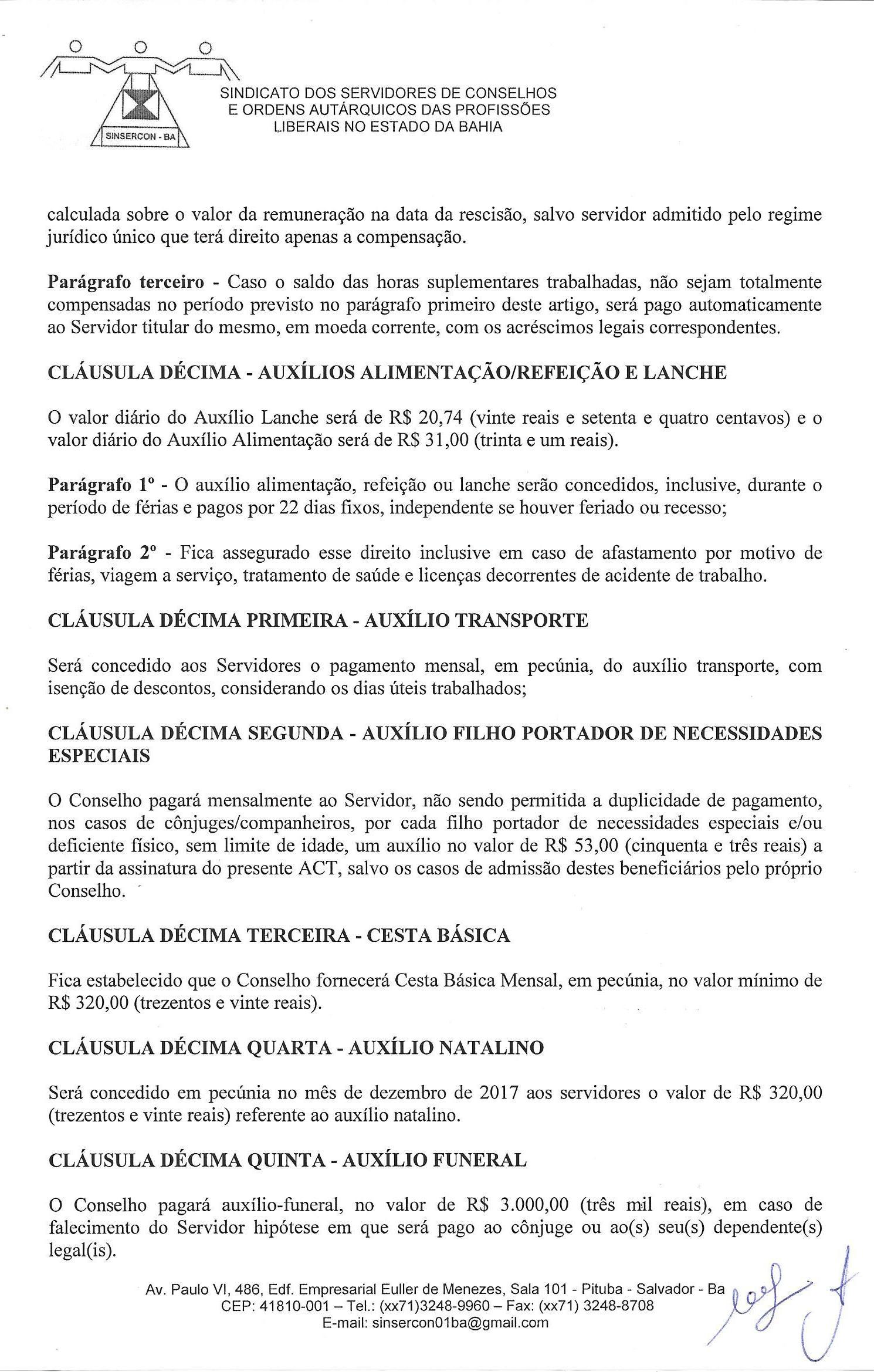 48188664fce21 Acordo Coletivo de Trabalho 2017 2018, do Conselho Regional de ...