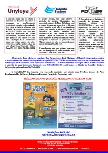 Informativo 14.05.2018 do SINSERCON-BA convênios 02