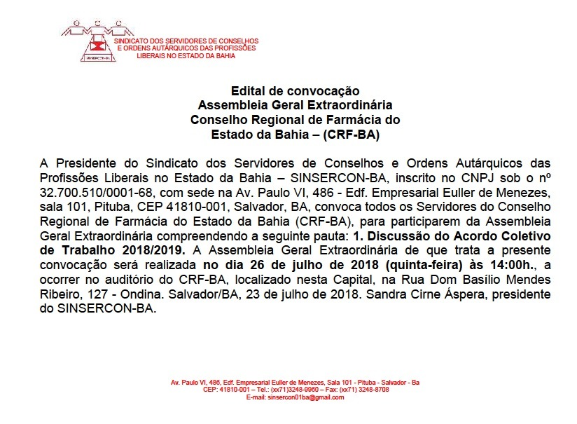 Edital CRF site