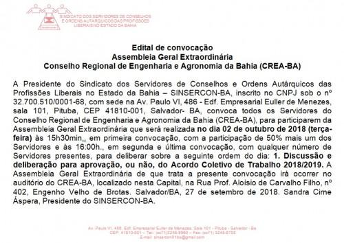Edital CREA 02.10.18