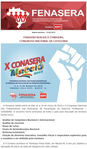 Fenasera X CONASERA