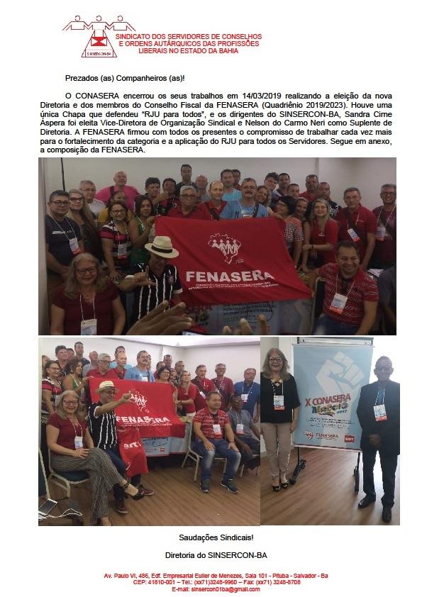 Composição da Diretoria da FENASERA site