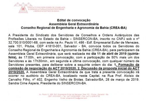 Edital CREA 11.04 site e face