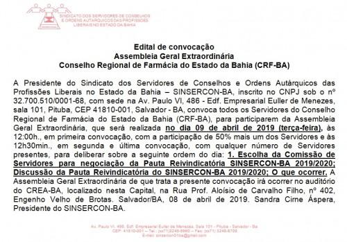 Edital CRF