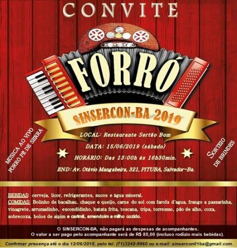 Convite Confraternização Junina