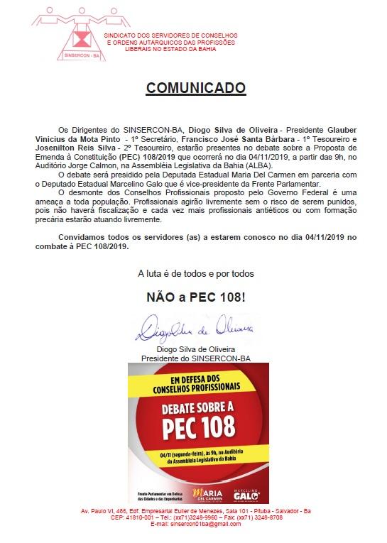 comunicado PEC_ALBA