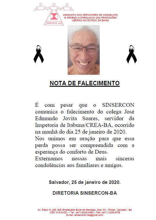 NOTAFALECIMENTO SINSERCON